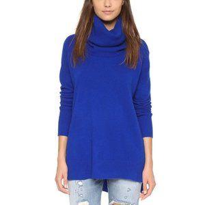 DVF 100% Cashmere Colbalt Blue Cowl Neck Sweater S